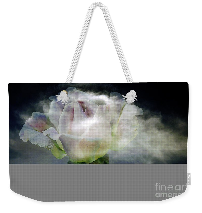 Clay Weekender Tote Bag featuring the photograph Cloud Rose by Clayton Bruster
