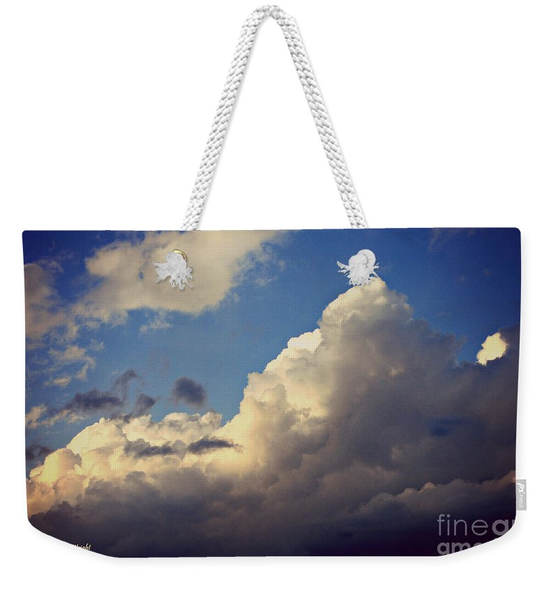 Clouds Weekender Tote Bag featuring the photograph Clouds-3 by Paulette B Wright