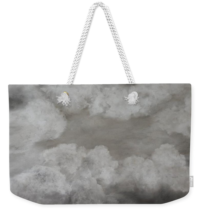 Clouds Weekender Tote Bag featuring the painting Clouds For Mary Beth by Mary Erbert