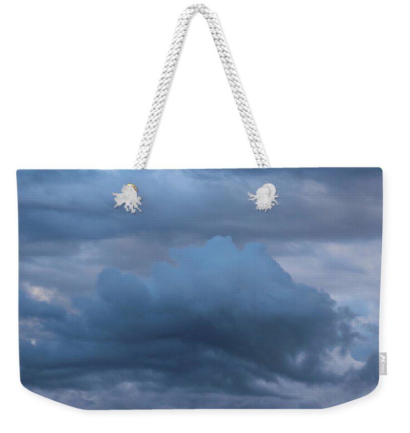 Cloud Weekender Tote Bag featuring the photograph Clouds Four by Modern Art