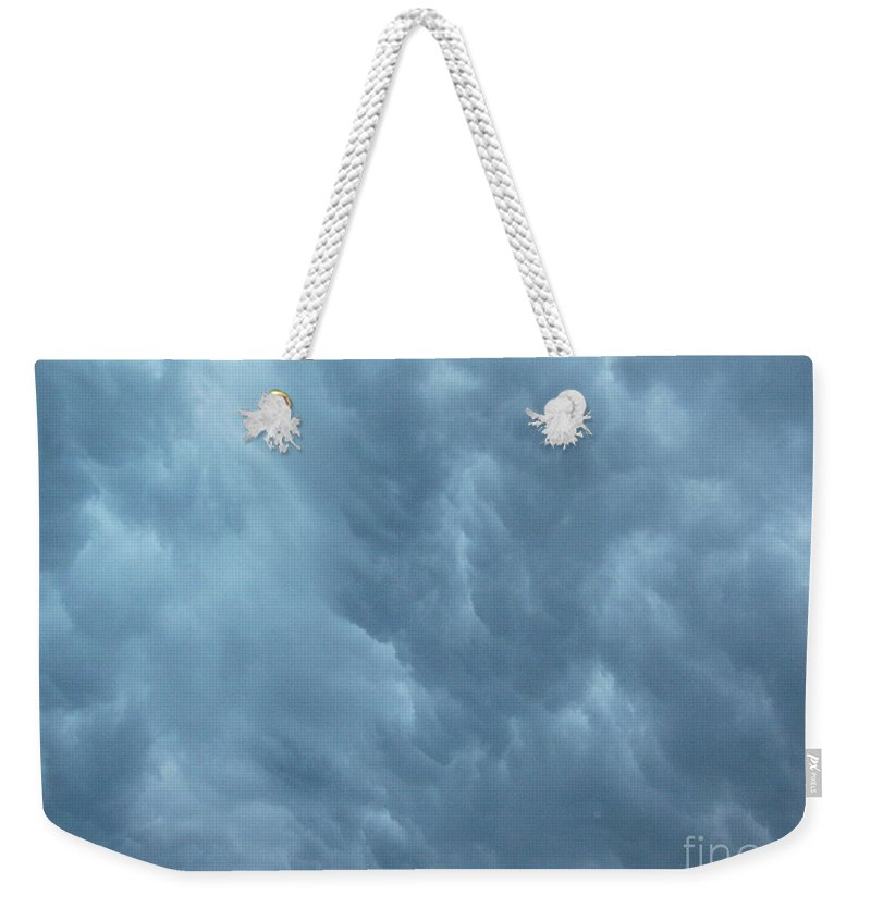 Clouds Weekender Tote Bag featuring the photograph Clouds Like The Sea by Deborah Crew-Johnson