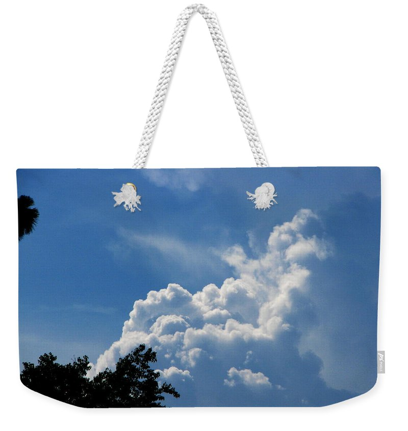 Patzer Weekender Tote Bag featuring the photograph Clouds Of Art by Greg Patzer