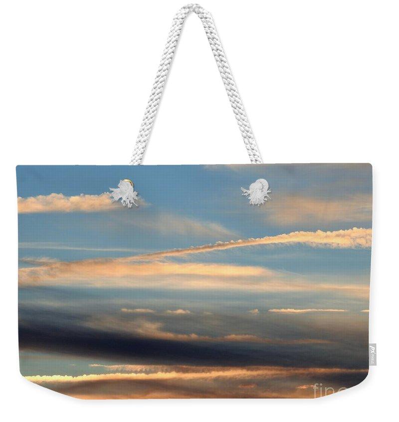 Sky Weekender Tote Bag featuring the photograph Clouds Of Natural Art by Jan Gelders