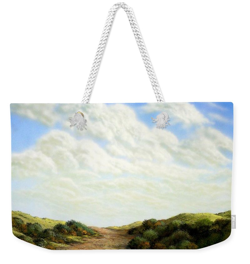 Landscape Weekender Tote Bag featuring the painting Clouds Of Spring by Frank Wilson