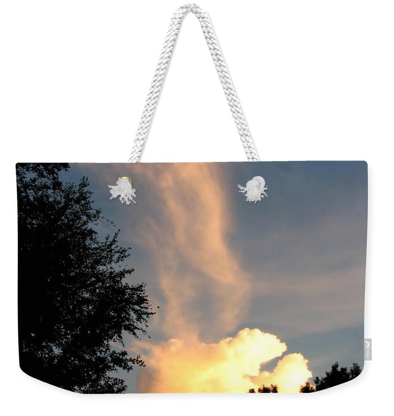 Landscape Weekender Tote Bag featuring the photograph Clouds On Fire by Todd A Blanchard