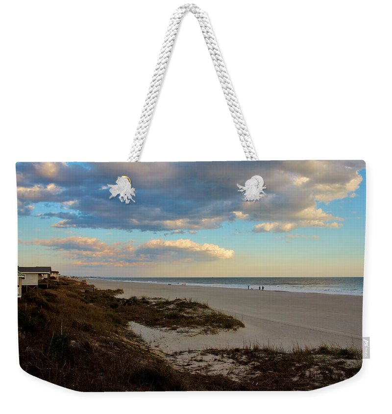 Holden Beach Weekender Tote Bag featuring the photograph Clouds Over Holden Beach by Cynthia Guinn
