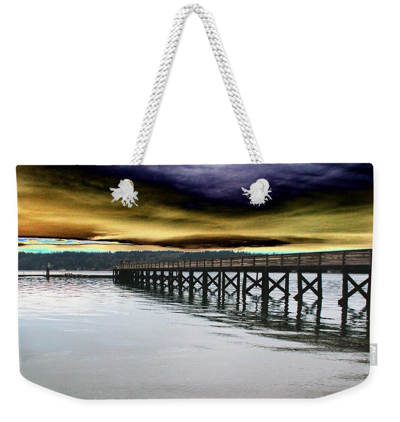 Clouds Weekender Tote Bag featuring the photograph Clouds Over Illahee by Tim Allen