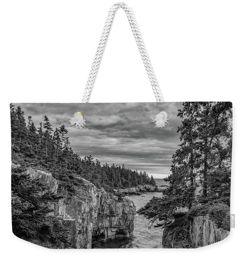 Acadia National Park Weekender Tote Bag featuring the photograph Clouds Over The Cliffs by Jesse MacDonald