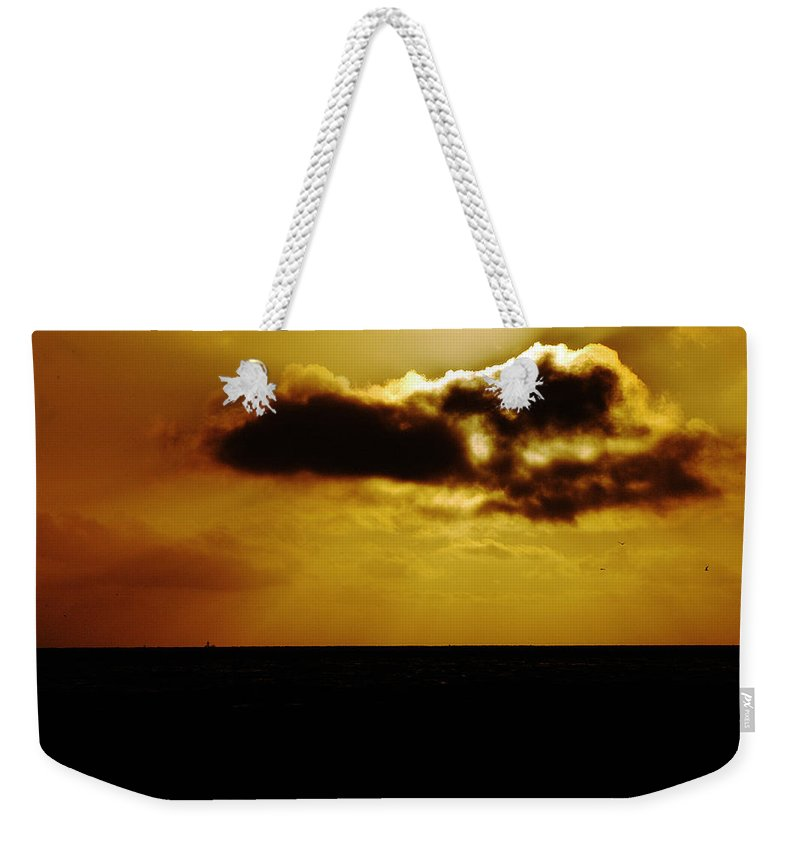 Clay Weekender Tote Bag featuring the photograph Clouds Over The Ocean by Clayton Bruster