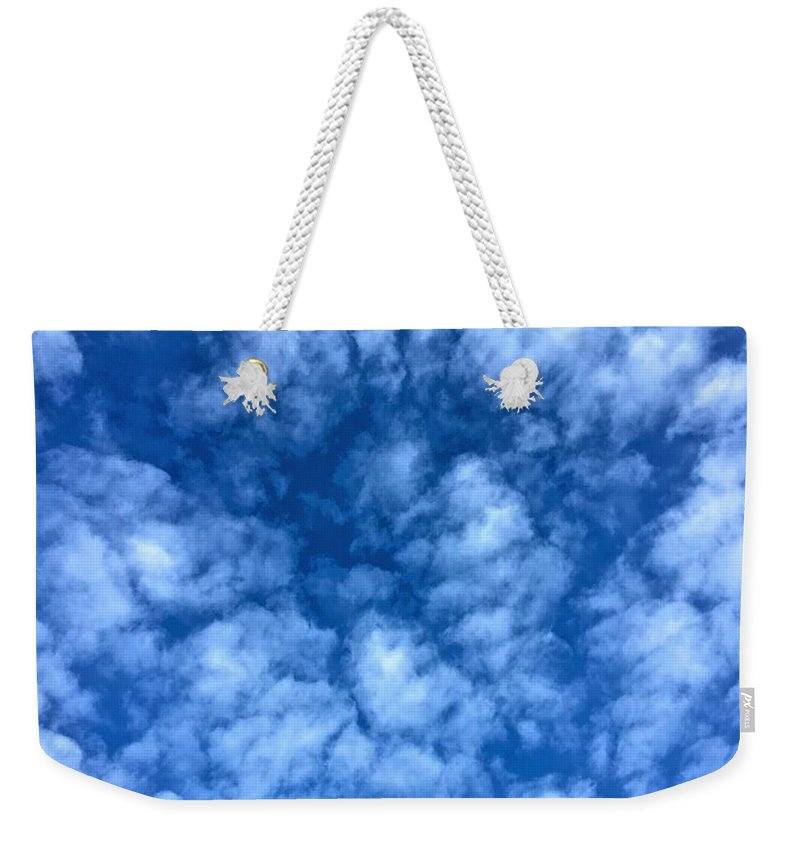 Sky Weekender Tote Bag featuring the photograph Clouds by Patti Mayer