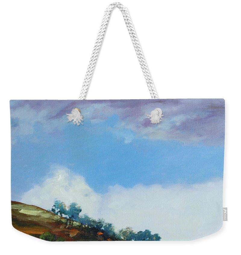 Sky Weekender Tote Bag featuring the painting Clouds by Rick Nederlof