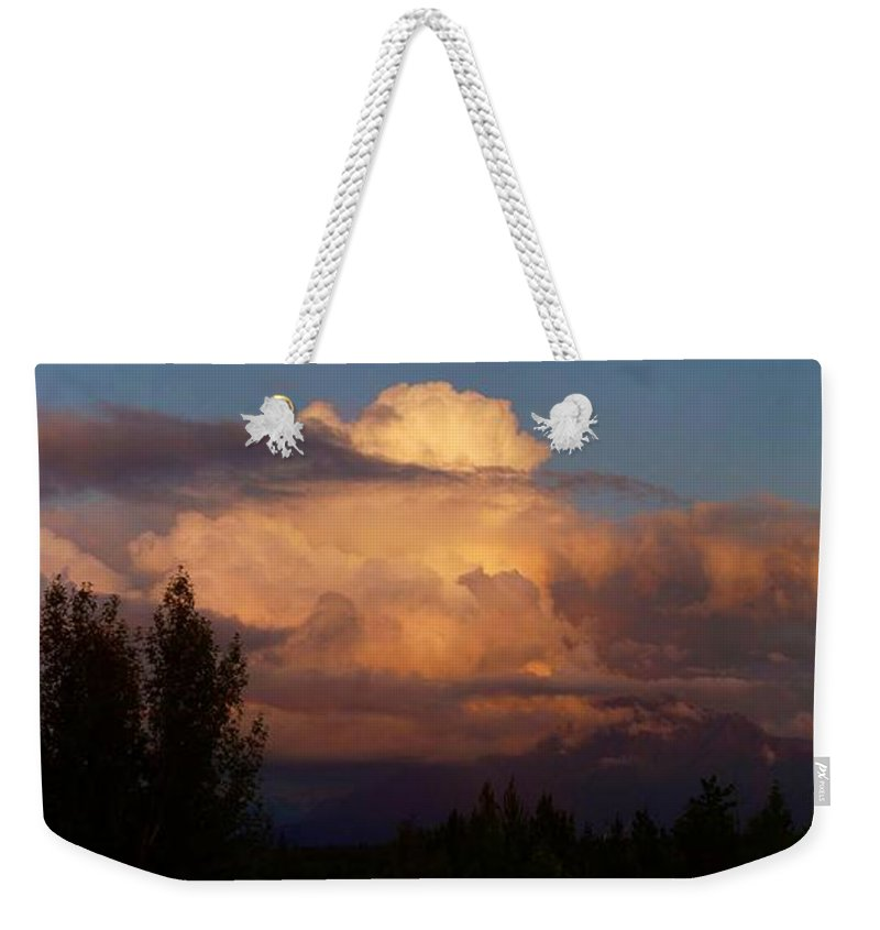 Clouds Weekender Tote Bag featuring the photograph Clouds by Ron Bissett