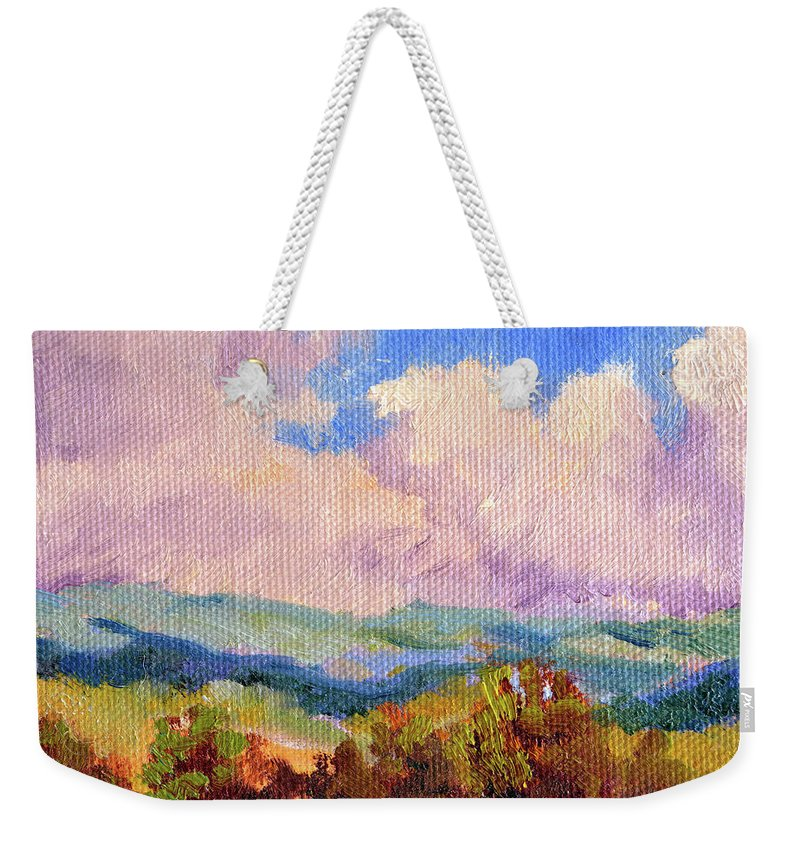 Impressionism Weekender Tote Bag featuring the painting Cloudscape 2 by Keith Burgess