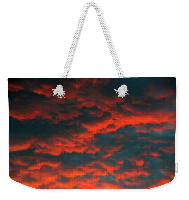 Cloudscape Weekender Tote Bag featuring the photograph Cloudscape A1 by David Lee Thompson