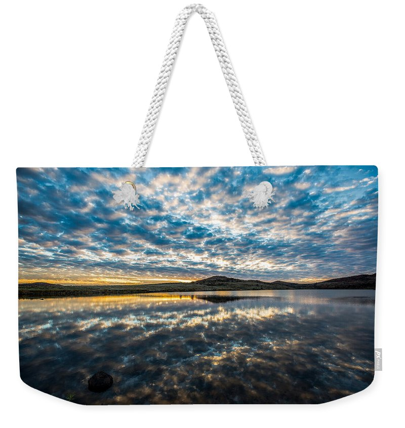 Oklahoma Weekender Tote Bag featuring the photograph Cloudscape - Reflection Of Sky In Wichita Mountains Oklahoma by Sean Ramsey