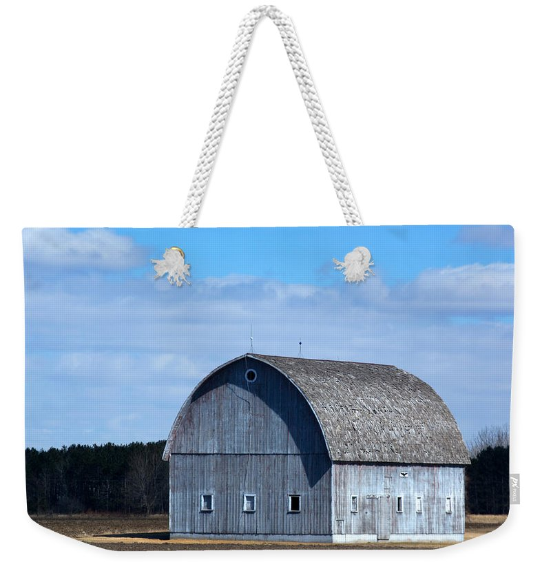 Barn Weekender Tote Bag featuring the photograph Cloudy Day by Linda Kerkau