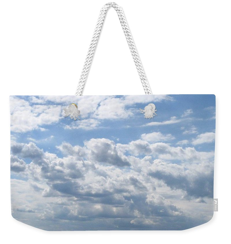 Clouds Weekender Tote Bag featuring the photograph Cloudy by Rhonda Barrett