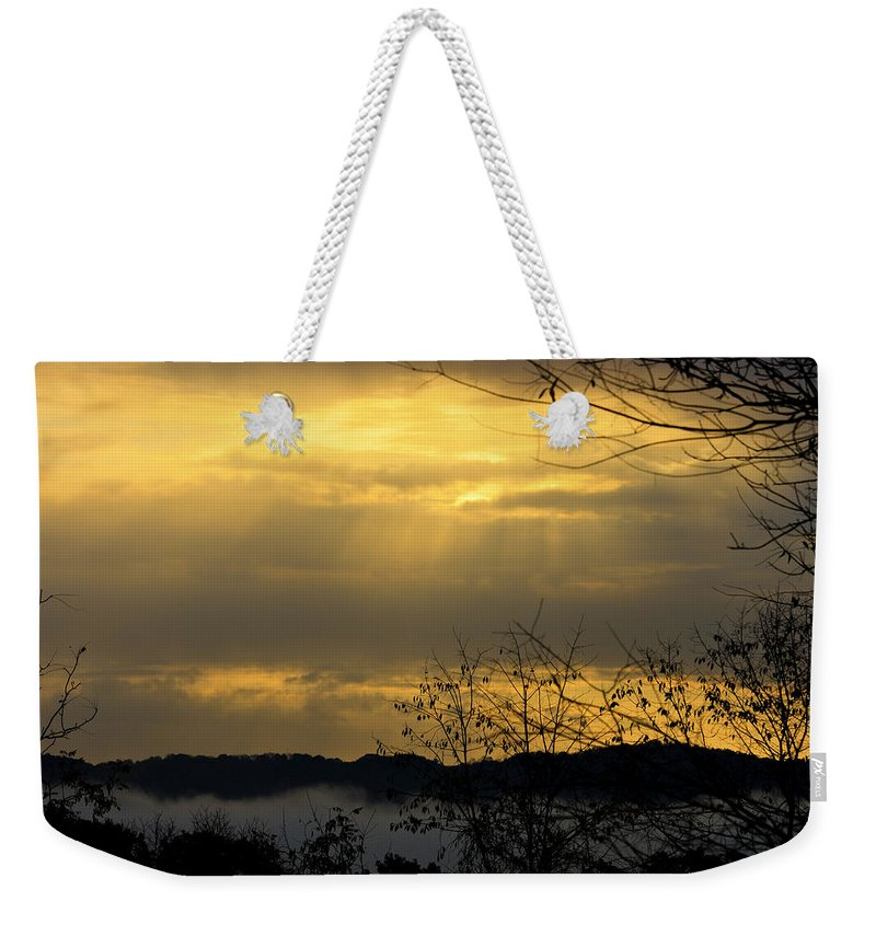 Sunrise Weekender Tote Bag featuring the photograph Cloudy Sunrise 3 by Teresa Mucha