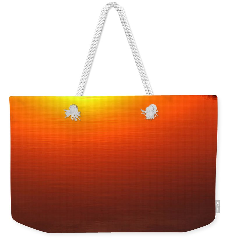 Clay Weekender Tote Bag featuring the photograph Cloudy Sunset by Clayton Bruster