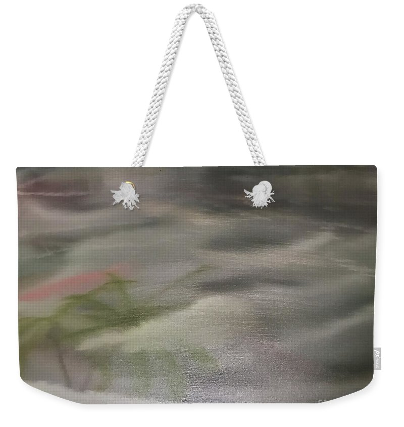 Seascape Weekender Tote Bag featuring the painting Cloudy With A Chance by Tyler The Painter