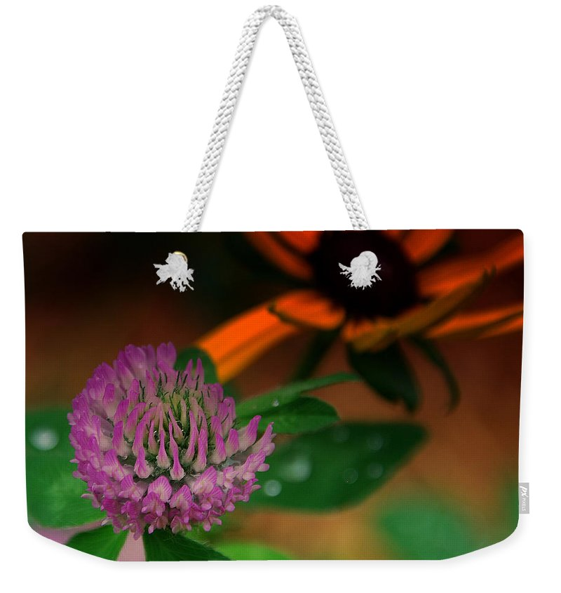 Clover Weekender Tote Bag featuring the photograph Clover In My Yard by Susanne Van Hulst