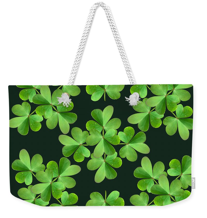Leaf Clover Weekender Tote Bag featuring the photograph Clover Print by Bri Lou