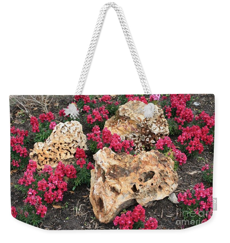 Rocks Weekender Tote Bag featuring the photograph Clusters by John W Smith III