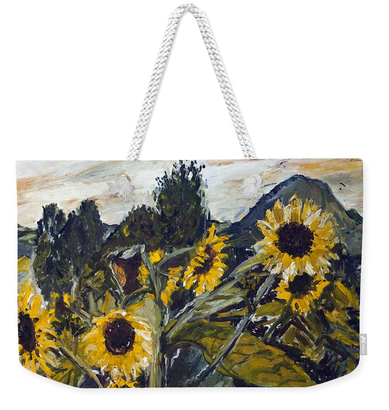 Landscape Weekender Tote Bag featuring the painting Cmelak by Pablo de Choros
