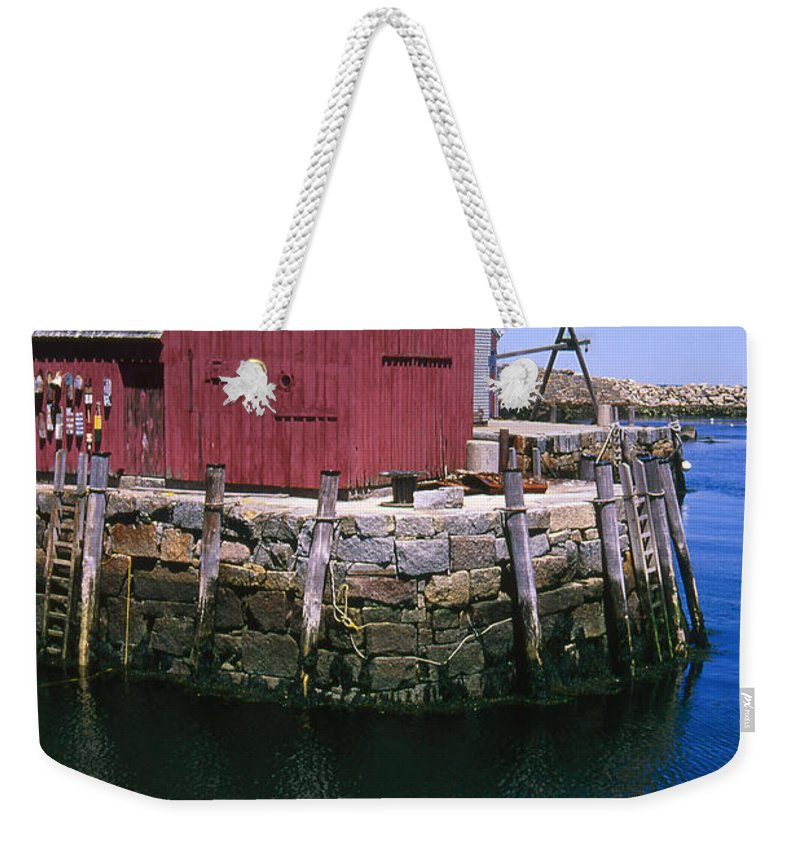 Landscape New England Rockport Motif Number 1 Weekender Tote Bag featuring the photograph Cnrf0506 by Henry Butz