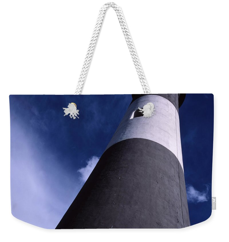 Landscape Lighthouse Fire Island Weekender Tote Bag featuring the photograph Cnrf0701 by Henry Butz