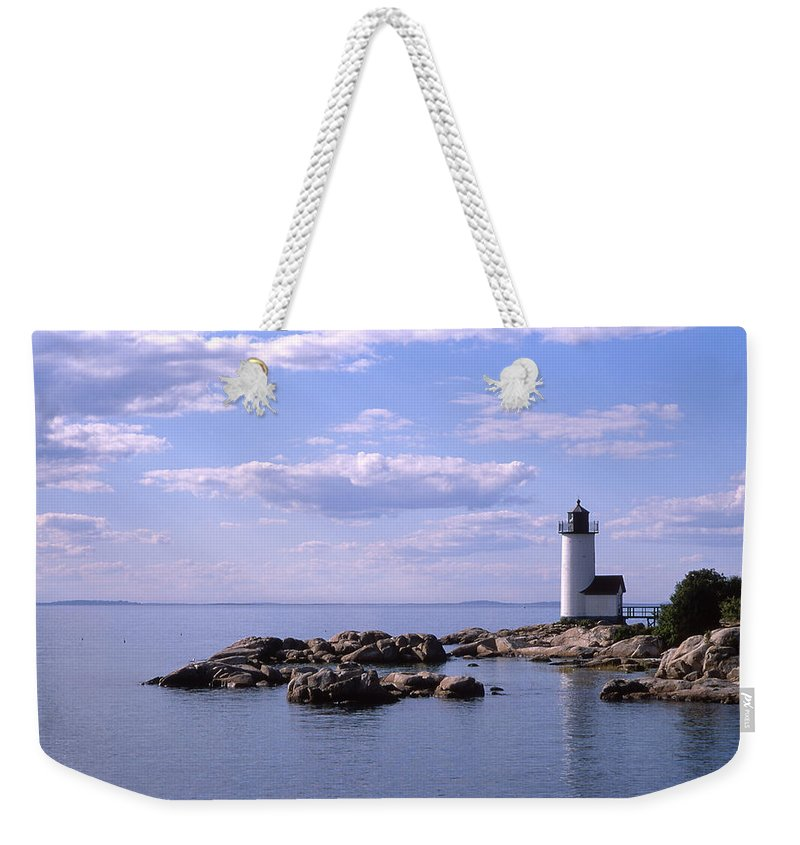 Landscape Lighthouse New England Nautical Weekender Tote Bag featuring the photograph Cnrf0901 by Henry Butz