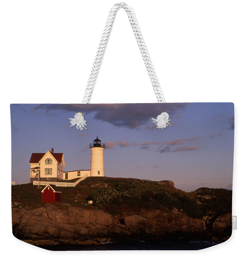 Landscape New England Lighthouse Nautical Coast Weekender Tote Bag featuring the photograph Cnrf0908 by Henry Butz