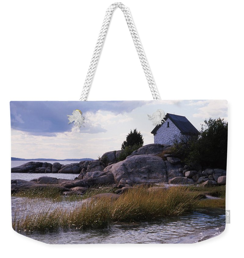 Landscape Beach Storm Weekender Tote Bag featuring the photograph Cnrf0909 by Henry Butz