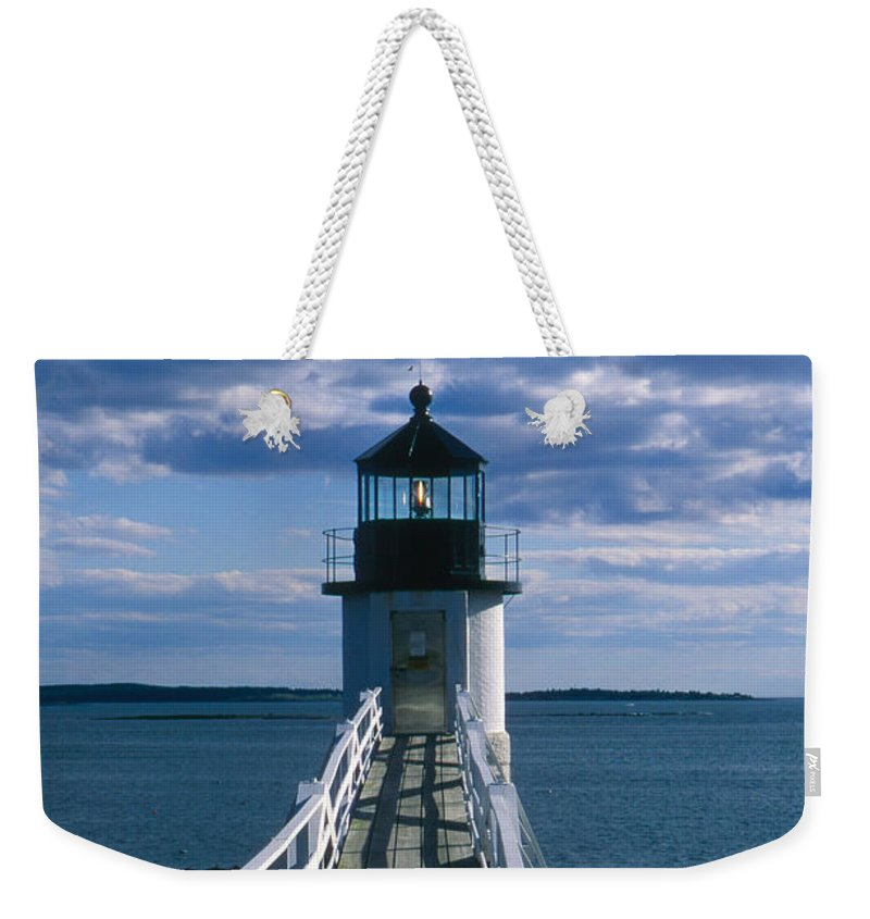 Landscape Lighthouse New England Marshall Point Light Port Clyde Weekender Tote Bag featuring the photograph Cnrh0603 by Henry Butz