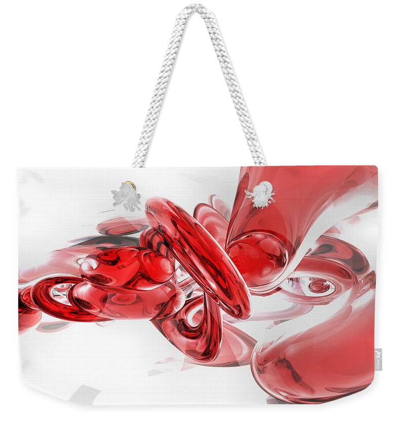 3d Weekender Tote Bag featuring the digital art Coagulation Abstract by Alexander Butler