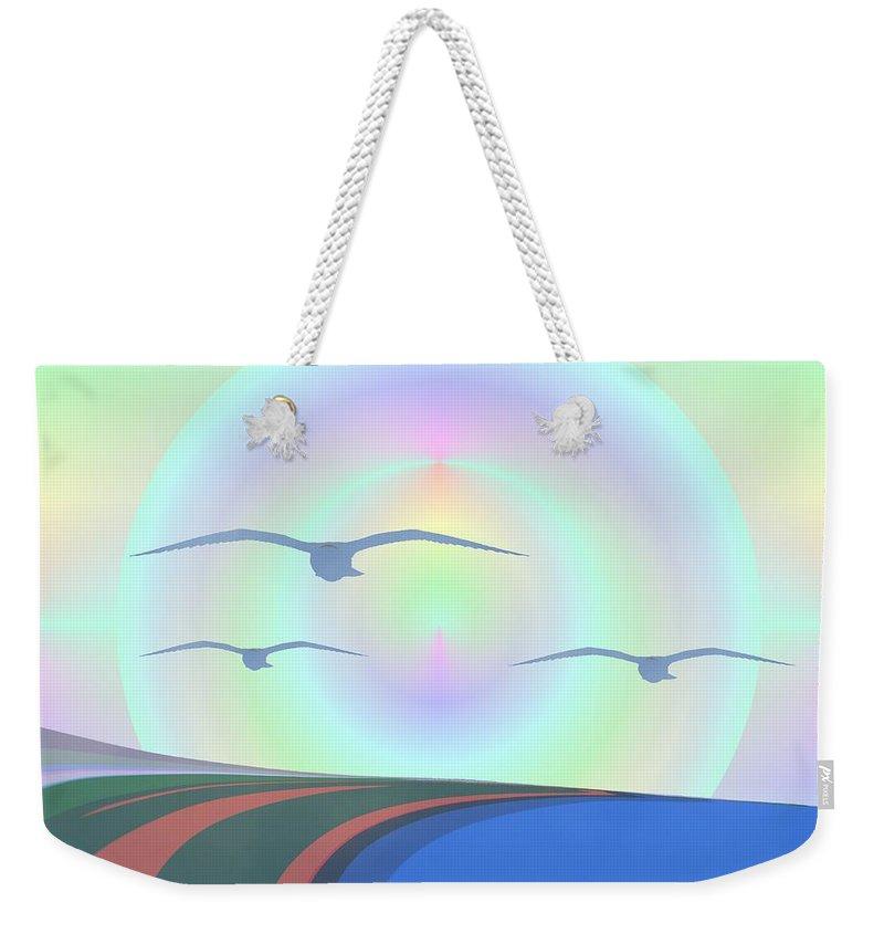 Coast Weekender Tote Bag featuring the digital art Coastal Delight by Tim Allen
