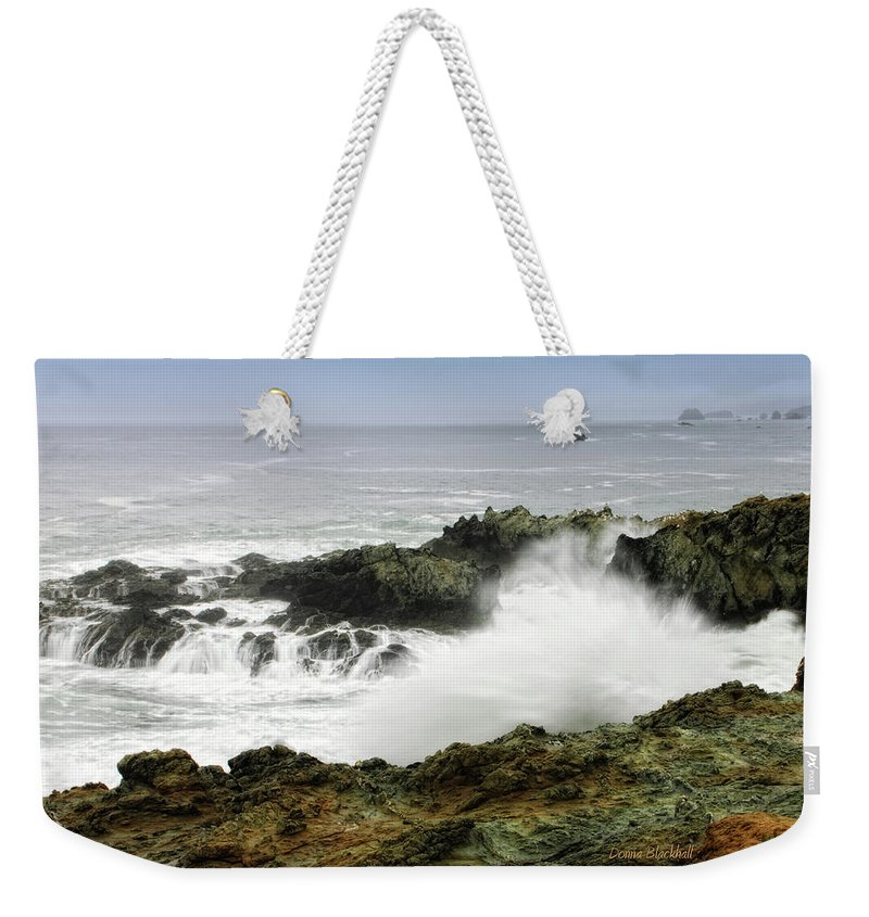 Coast Weekender Tote Bag featuring the photograph Coastal Expressions by Donna Blackhall
