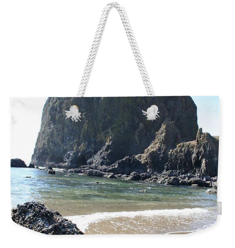 Coastal Landscape Weekender Tote Bag featuring the photograph Coastal Landscape - Cannon Beach Afternoon - Scenic Lanscape by Quin Sweetman