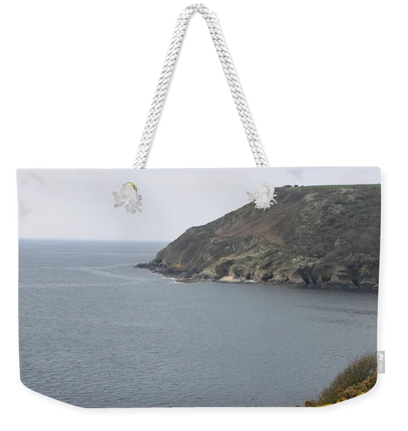 Polperro Weekender Tote Bag featuring the photograph Coastal Path Cornwall by Lauri Novak