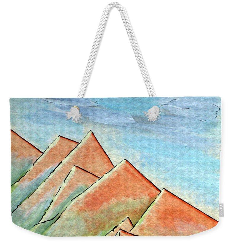 Painting Weekender Tote Bag featuring the painting Coastal Range by J R Seymour