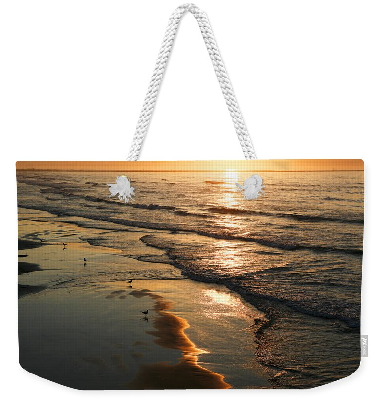 Beach Weekender Tote Bag featuring the photograph Coastal Sunrise by Marilyn Hunt