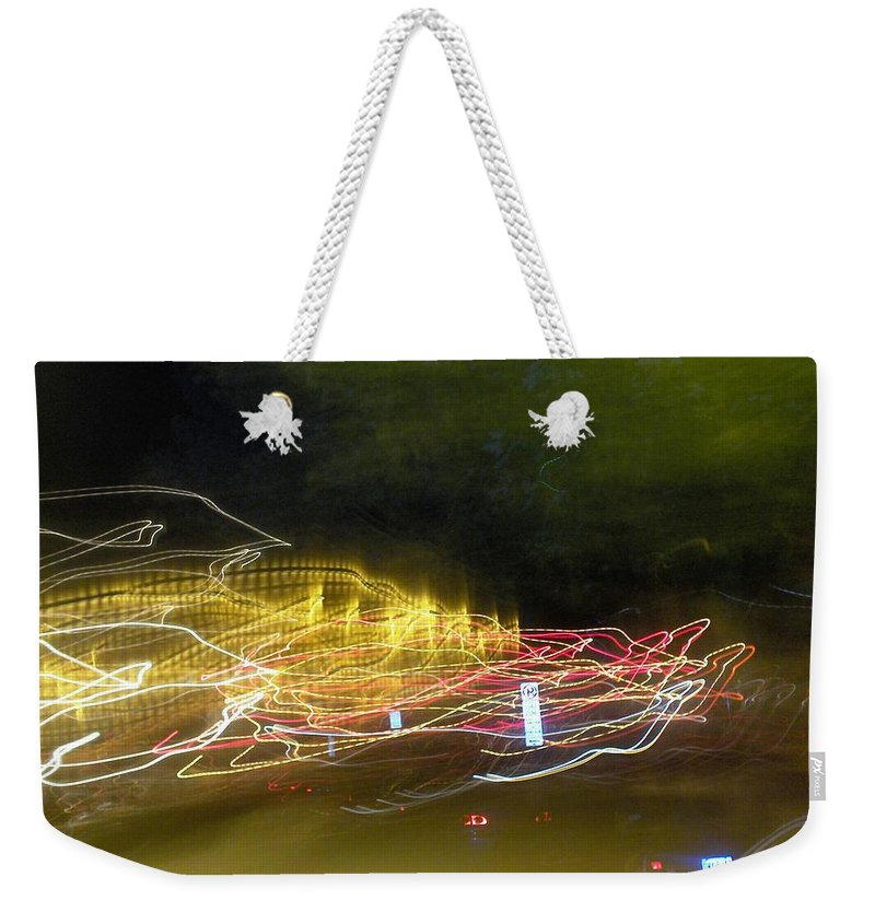 Photograph Weekender Tote Bag featuring the photograph Coaster Of Lights by Thomas Valentine