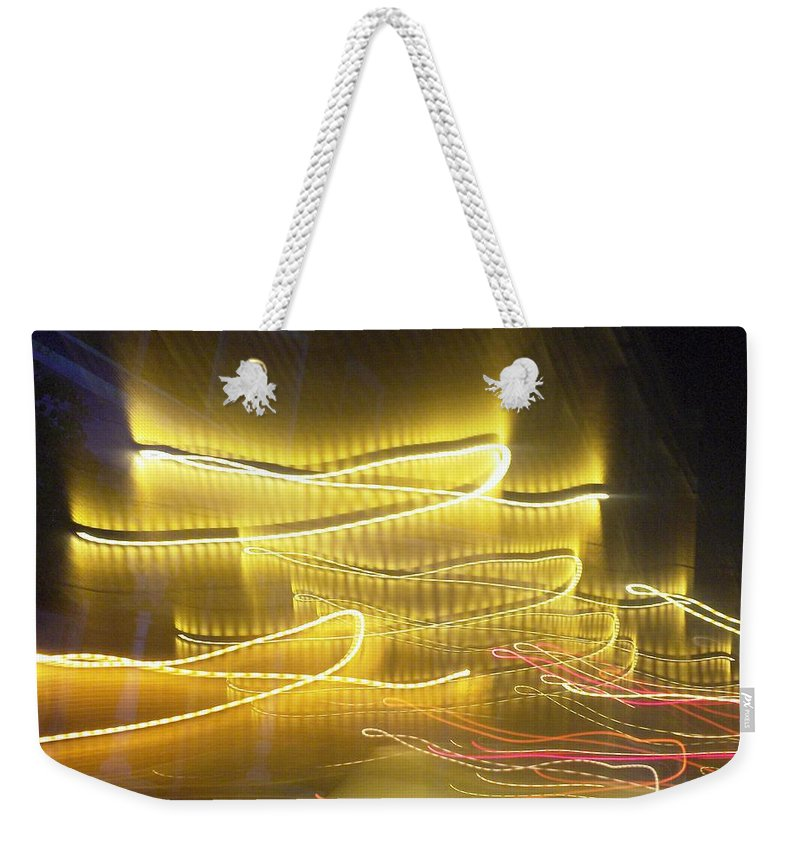 Photograph Weekender Tote Bag featuring the photograph Coaster Of Lights Two by Thomas Valentine