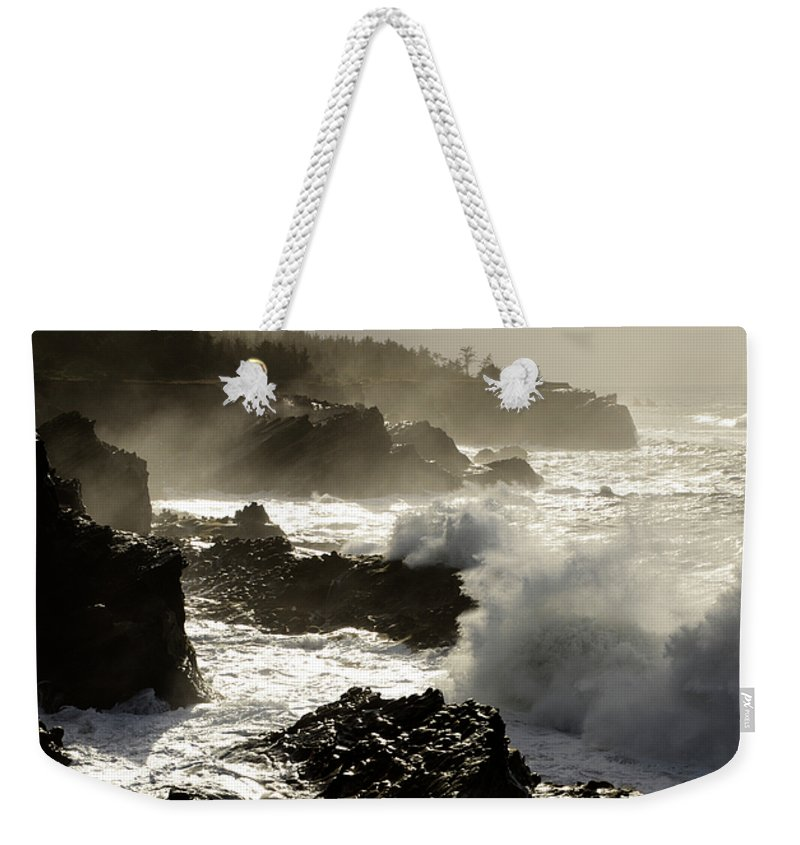 Lighthouse Weekender Tote Bag featuring the photograph Coastline Oregon by Bob Christopher