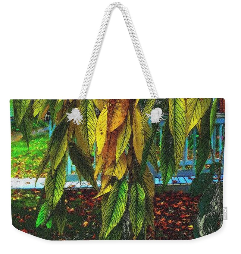 Autumn Weekender Tote Bag featuring the painting Coat Of Many Colors by RC DeWinter