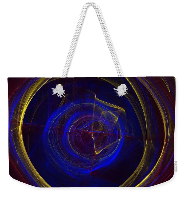 Apophysis Weekender Tote Bag featuring the digital art Cobalt Blue by Deborah Benoit