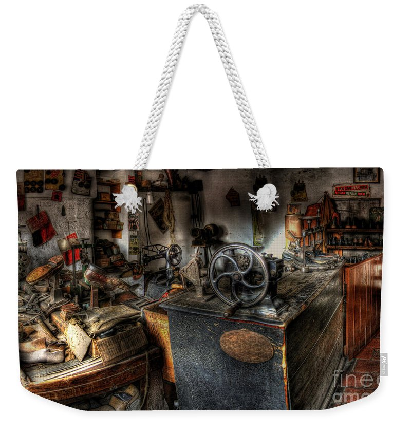 Art Weekender Tote Bag featuring the photograph Cobbler's Shop by Yhun Suarez