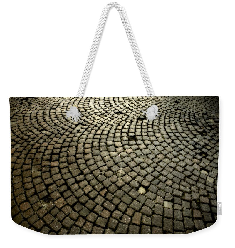 Street Weekender Tote Bag featuring the photograph Cobblestone by Marilyn Hunt