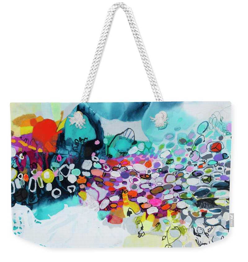 Abstract Weekender Tote Bag featuring the painting Cobblestones Of San Miguel by Claire Desjardins