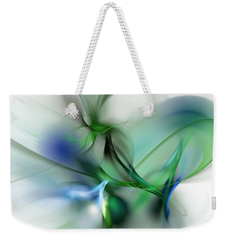 Digital Painting Weekender Tote Bag featuring the digital art Cobra Plant by David Lane